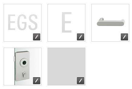 FSB  European Glass Door Lock, Square Edge EGS - E - 1002 - RA - 0105 - 231 - LR - 008