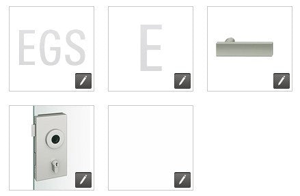 FSB  European Glass Door Lock, Square Edge EGS - E - 1003 - RA - 8220 - 231 - LR - 010