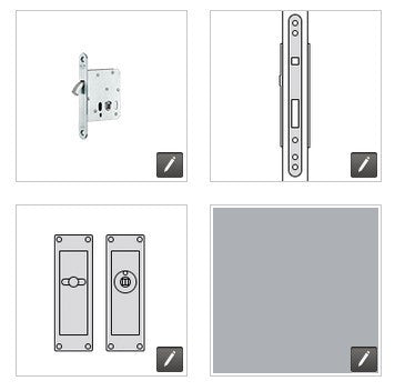 FSB European Door Sliding Lock ESL - S - SA - 6205 - 231 - 134