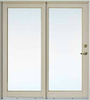 JELD-WEN Hallmark Exterior Tradition Plus Wood Swinging Patio Door