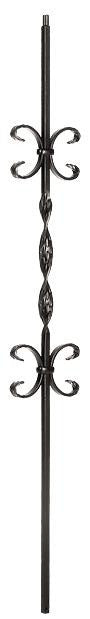 L.J.  Smith - Stair part  LI-20044 Single Ribbon Double Butterfly Baluster (Solid)