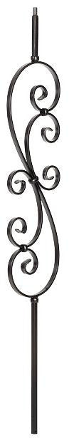 L.J.  Smith - Stair part  LI-30144 Large Scroll Baluster (Solid)