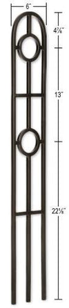 L.J.  Smith - Stair part  LI-40840 Double Ring Medallion Arc Baluster (Solid)