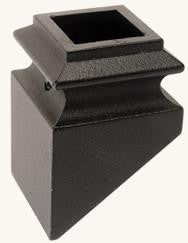 "L.J.  Smith - Stair part  LI-ALMGPSH08 — Pitch Shoe for 3/4"" Square Iron Balusters"