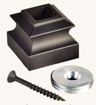 "L.J.  Smith - Stair part  LI-PROCOL — Base Collar with Threaded Disc for 1/2"" Square Iron Balusters"