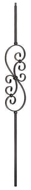 L.J.  Smith - Stair part  LIH-HOL50144 Small Scroll Baluster (Hollow)