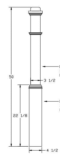 L.J.  Smith - Stair part  LJ-4075-50 — Box Newel