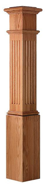 L.J.  Smith - Stair part  LJ-4093 — Fluted Panel Box Newel