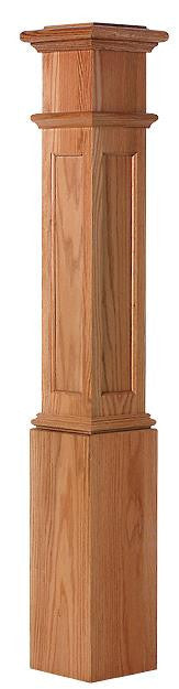 L.J.  Smith - Stair part  LJ-4094 — Recessed Panel Box Newel
