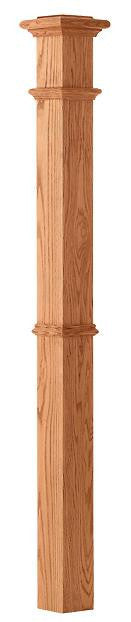 L.J.  Smith - Stair part  LJ-4392 — Plain Panel Intermediate Box Newel