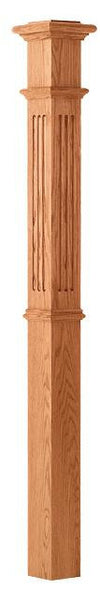 L.J.  Smith - Stair part  LJ-4393 — Fluted Panel Intermediate Box Newel