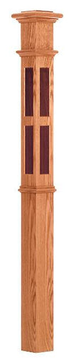 L.J.  Smith - Stair part  LJ-4397 — Rectangle Inlay Intermediate Box Newel