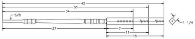 "L.J.  Smith - Stair part  LJ-5200 — 1 ¼"" Pin Top Baluster"