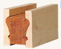 L.J.  Smith - Stair part  LJ-6010BM — Pine Bending Mould