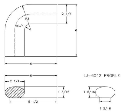 L.J.  Smith - Stair part  LJ-7005 — Quarterturn for LJ-6042