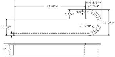 L.J.  Smith - Stair part  LJ-8030 — Single Bullnose Starting Step