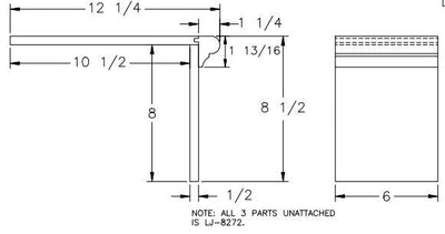L.J.  Smith - Stair part  LJ-8179 — Double Miter Return False Tread Kit