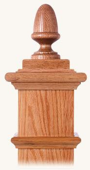 L.J.  Smith - Stair part  LJ-9003 — Acorn Finial for Box