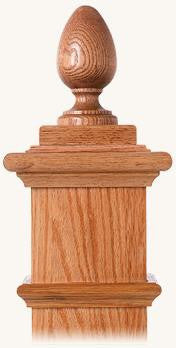 L.J.  Smith - Stair part  LJ-9005 — Teardrop Finial for Box Newels