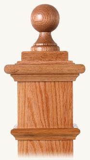 L.J.  Smith - Stair part  LJ-9007 — Balltop Finial for Box Newels