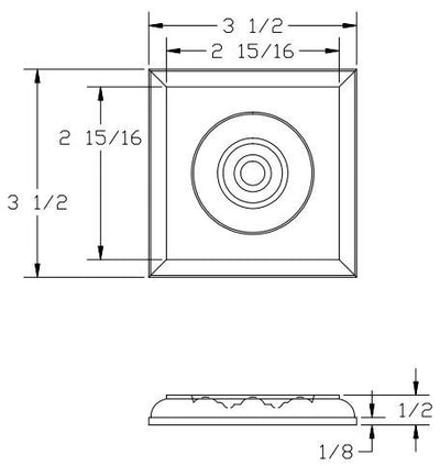 L.J.  Smith - Stair part  LJ-9101 — Rosette Block for Box Newels