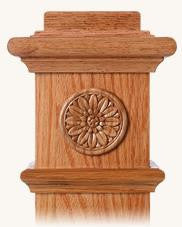 L.J.  Smith - Stair part  LJ-9102 — Flower Embossed Carving