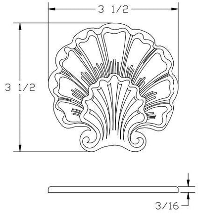 "L.J.  Smith - Stair part  LJ-9105 — Round Shoe for 1/2"" Square Iron Balusters"