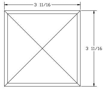 L.J.  Smith - Stair part  LJ-9301 — Chamfered Top Plate for Box Newels