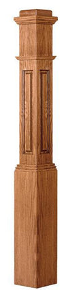 L.J.  Smith - Stair part  LJRA-4091 — Traditional Raised Panel Box Newel