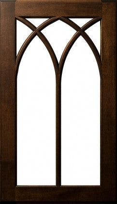 Plain and Fancy Cabinets -Multi Arched 7-Lite Mullion Maple Cocoa with Umber Glaze