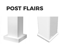 PolyRail Vinyl Post Flairs