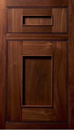 Plain and Fancy Cabinets Square Recessed panel- Austere 3 Walnut in Sienna