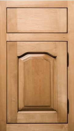 Plain and Fancy Cabinets Arch Raised panel- Chateau Maple in Natural with Umber Glaze