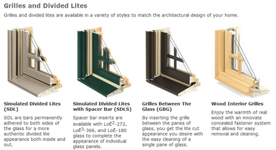Integrity awning divided light options