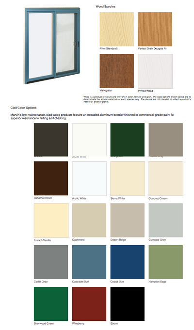 Marvin door exterior finish options
