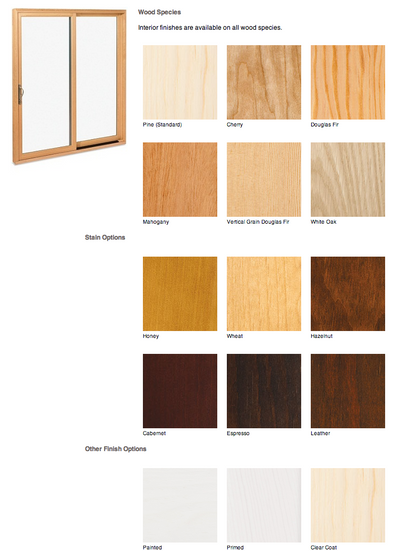 Marvin door interior finish options
