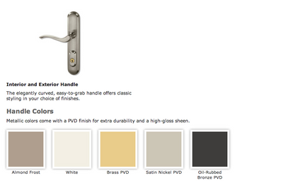 Integrity door hardware finish colors