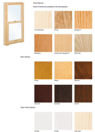Marvin interior finish colors