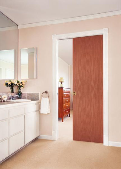 JELD-WEN Red Oak Flush All Panel Interior Door
