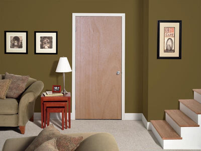 JELD-WEN Tropical Hardwood Flush All Panel Interior Door