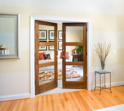 JELD-WEN 3-Lite French Custom Wood Glass Panel Interior Door