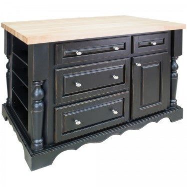 Hardware Resources Entertaining Kitchen Island