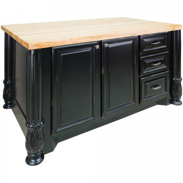 Hardware Resources Milanese Kitchen Island