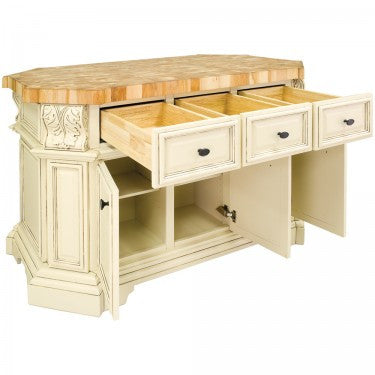 Hardware Resources Acanthus Kitchen Island