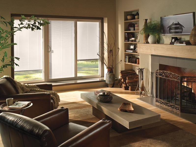 JELD WEN 3 Panel Premium Vinyl Sliding Patio Door