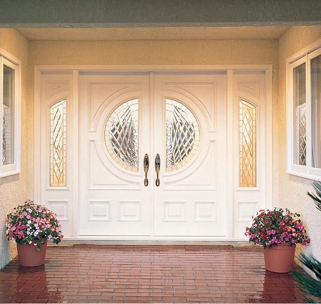 JELD-WEN A250 Aurora® Custom Fiberglass Glass Panel Exterior Door ...