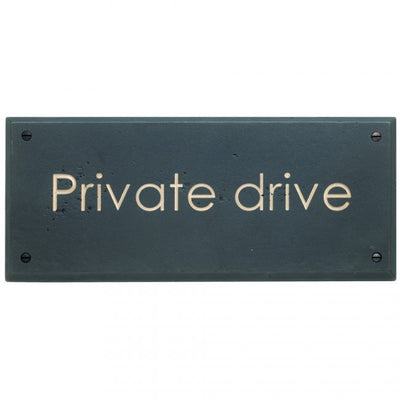 Rocky Mountain Private Drive Plaque PL250-CG