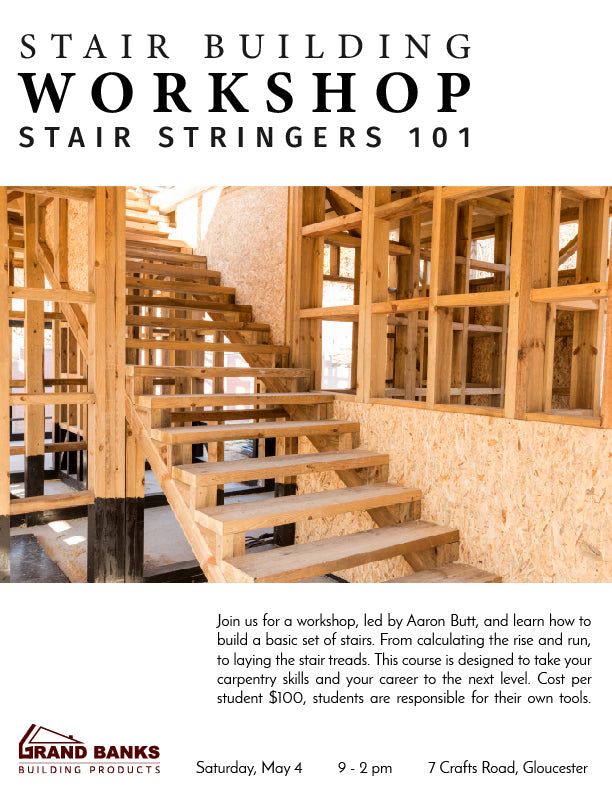 Stair Building Workshop