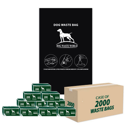 Dog Waste Roll Bags (2000 Case)