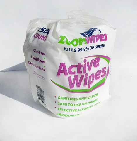 Zoom Active Wipes - Hand Sanitizing (4 rolls, 1500 wipes per roll)